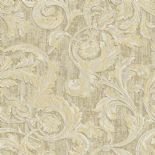 Italian Style Wallpaper Kastra Scroll Gold 20500 By Sirpi For Muriva